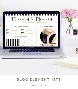 Modern blog kits, blog element kits, chic blog kits, branding and blog kit, pink black gold blog kits