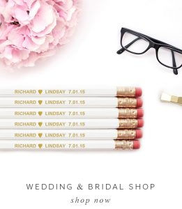 Mr & Mrs mugs, wedding pencils, modern wedding gifts, modern bride,