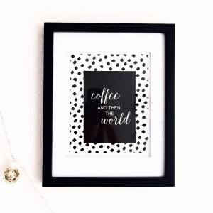 coffee than the world, leopard spots wall art print