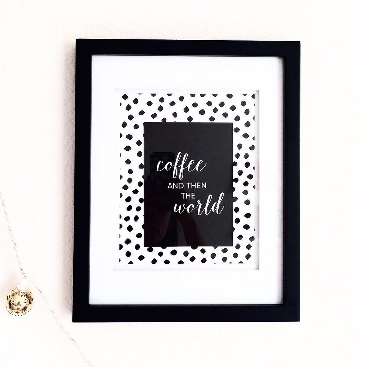 coffee than the world, leopard spots wall art print