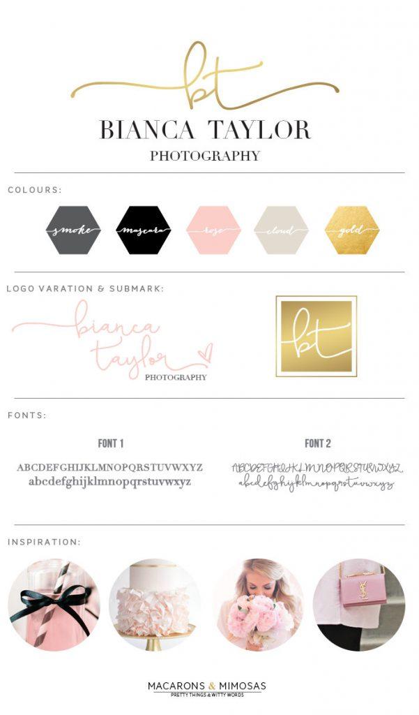 gold foil logo design, pink black gold branding board, script logo, logo branding board, photography logo, pre made logo, premade logo design, custom logo design, chic boutique logo design