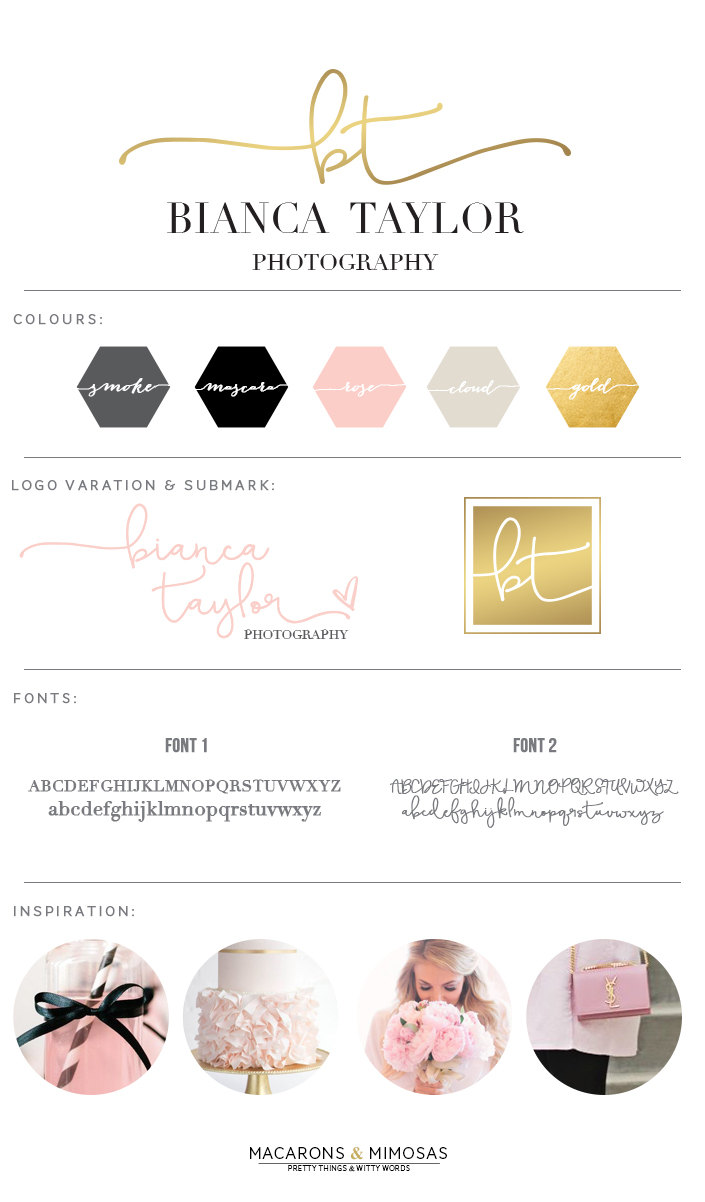 Branding Design • Gold Foil & Blush Pink
