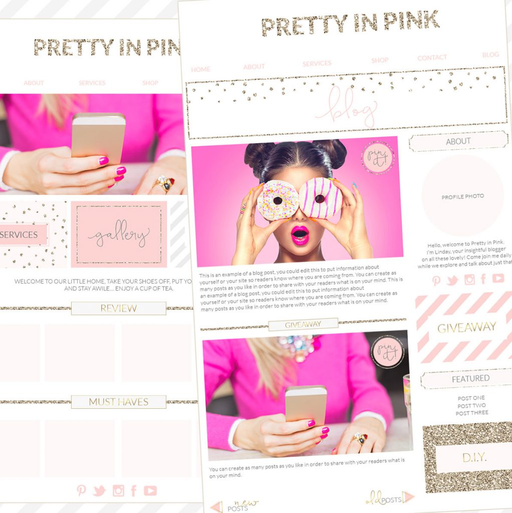 Branding Kit, Photographer Brand, Blogger WordPress blog template, blogger branding kit, website elements kit, blog elements kit, blog kit, pink gold branding board, pink gold office