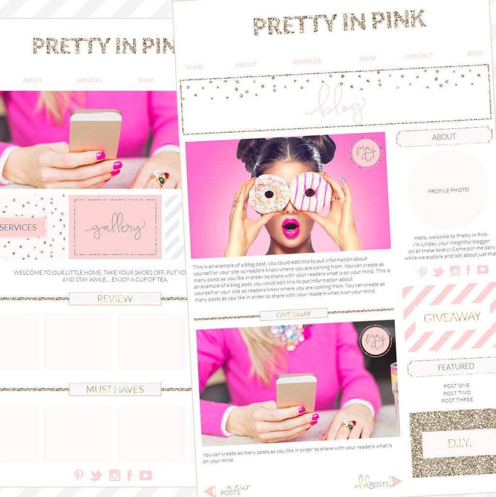 Branding Kit, Photographer Brand, Blogger WordPress blog template, blogger branding kit, website elements kit, blog elements kit, blog kit, pink gold branding board, pink gold office
