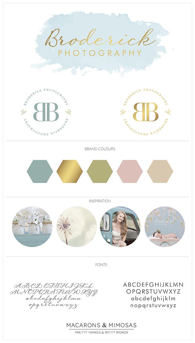 Custom Logo Design, Photography Branding, Photography Branding, Branding Kit, Marketing Brand, Photography Logo Design, Photography Stamp, Branding board, Blue Pink Gold, Shabby Chic Branding Board, Rustic Logo