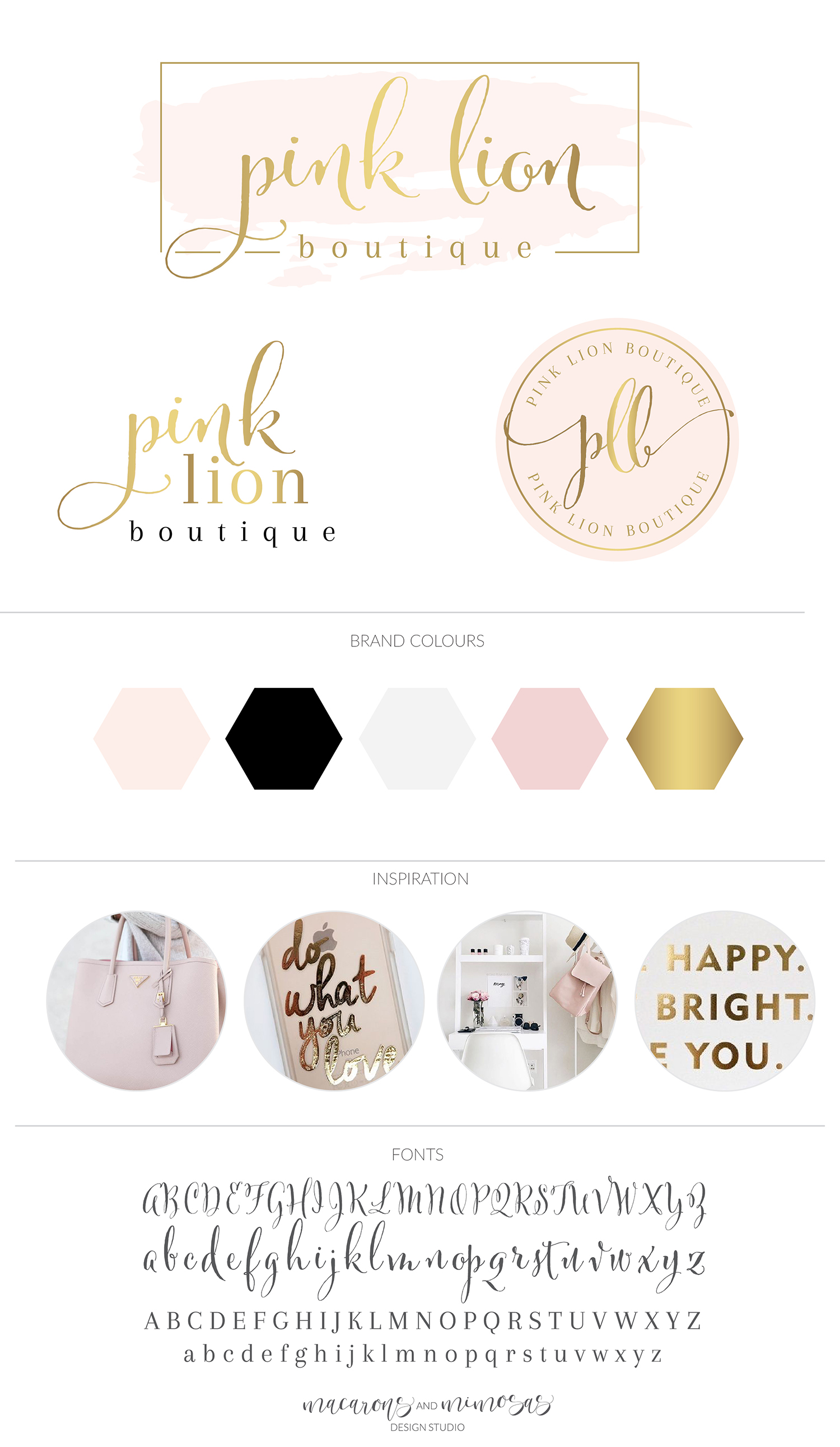 Pink Lion Boutique Custom logo design