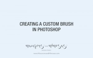 Photoshop Custom Brush Tutorial, Photography tutorial, Logo Tutorial, Wedding Photographer Watermark Logo Tutorial