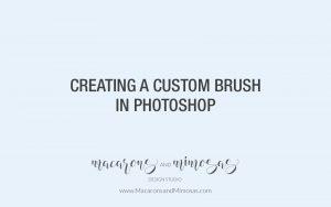 Photoshop Custom Brush Tutorial, Photography tutorial, Logo Tutorial, Wedding Photographer Watermark Logo Tutorial