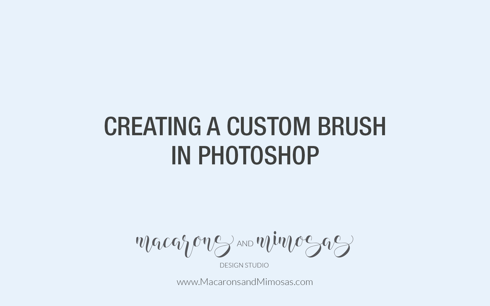 Video Tutorial: Create a Photoshop Brush Using Your Logo