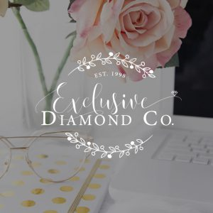 Jewelry Company Logo, Diamond Logo, Pretty Brand Board, Logo Branding Board Blue