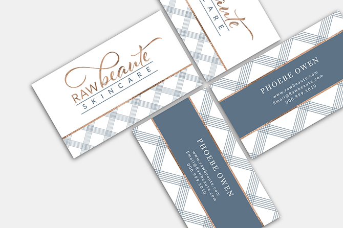 Skincare Business cards, chic business card design, criss cross business cards, business card template beauty