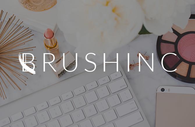 Cosmetic Logo, Beauty Logo, Brushstroke Logo design, Custom beauty branding, rose gold branding board, Pink Grey branding