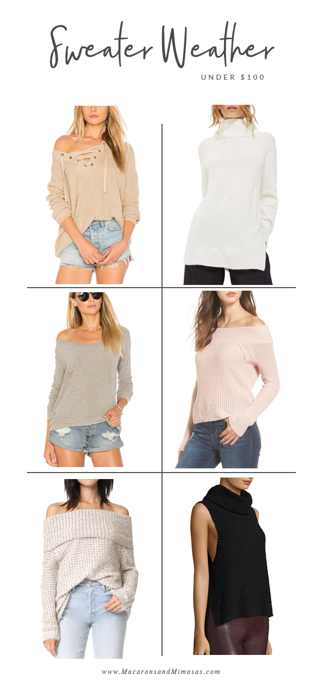 Sweater Weather, Fall 2017 Fashion, BB Dakota Sweater, Free People Sweater, Off the Shoulder Sweater, Tie Up, Lace up sweater