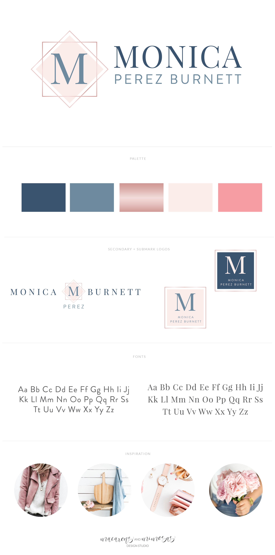 Small Business Branding, Custom logo design, Modern square logo design, rose gold blush pink blue brand board, modern custom logo, corporate identity design services, brand identity design, logo design services