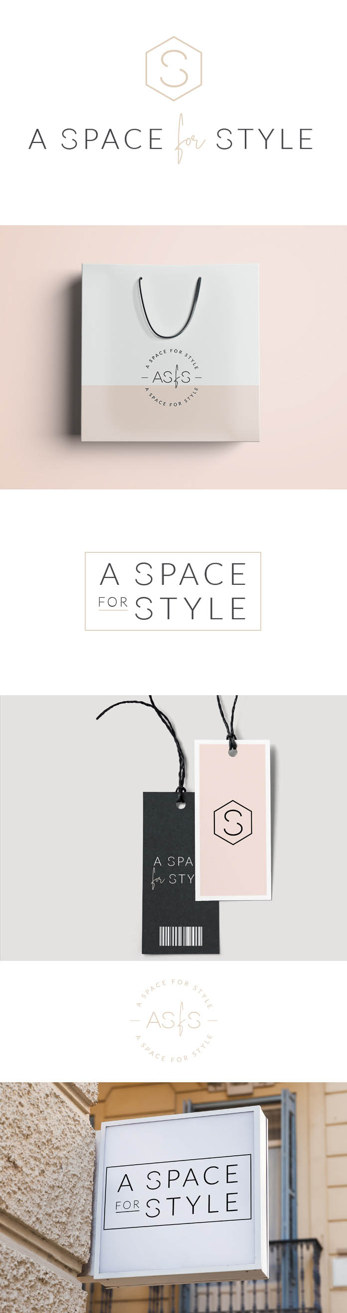 Fashion Logo Design, Branding Kit - monogram, intials logo design, beauty blog brand, handwritten logo, customizable logo