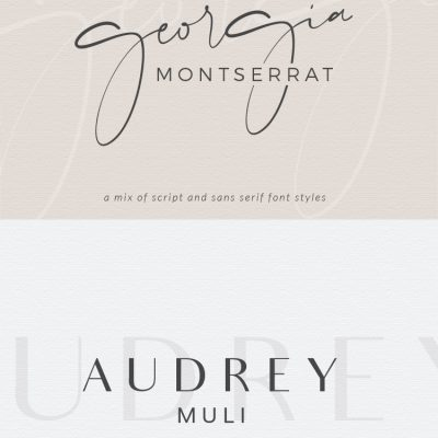 Font Pairing • April
