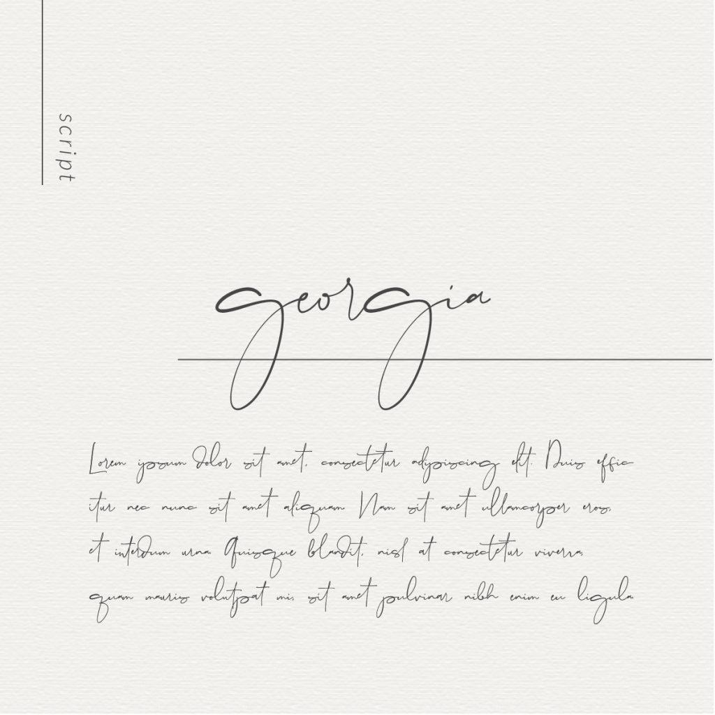 Georgia Script Font