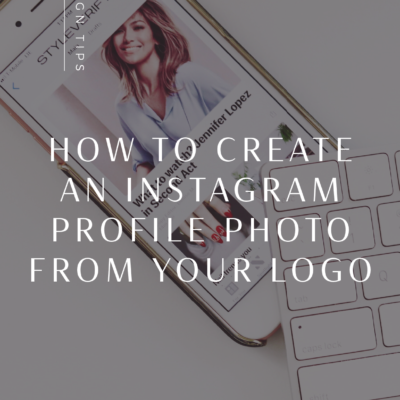 Create Instagram Profile Picture using your Logo