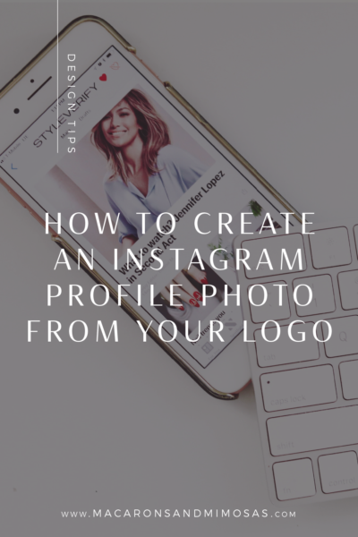 Create Instagram Profile picture from your logo