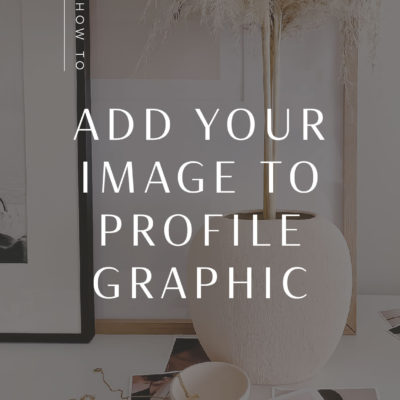 How to Add Your Photo to your Profile Graphic