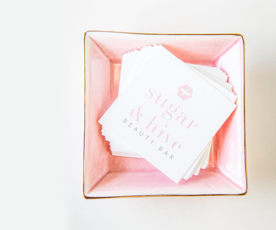 Beauty Bar business card design